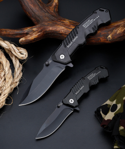 black folding knife